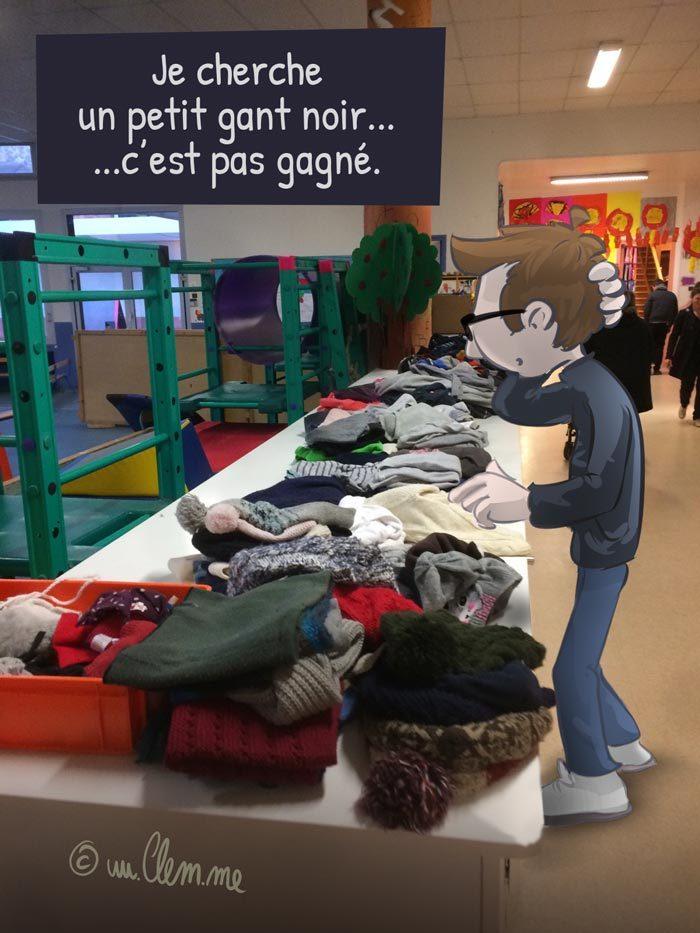 École maternelle à la recherche du gant perdu